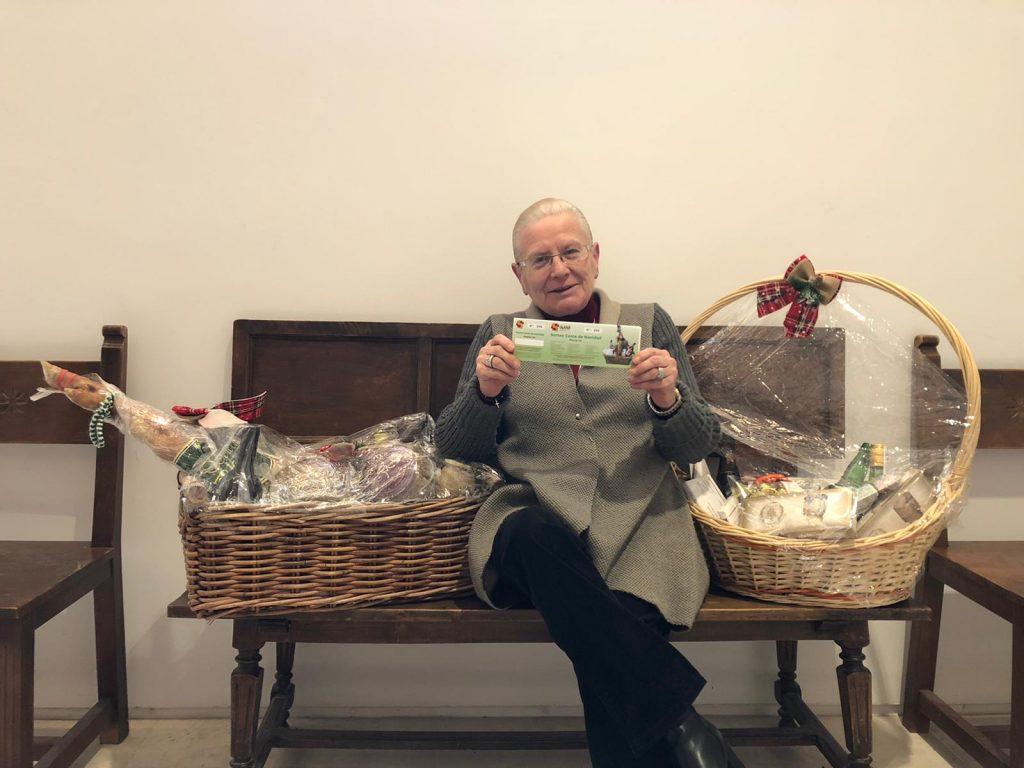 Entrega de la cesta de Navidad